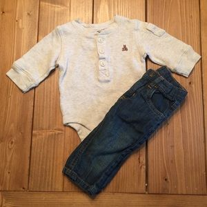 GAP/ Carter's Outfit 0-3M